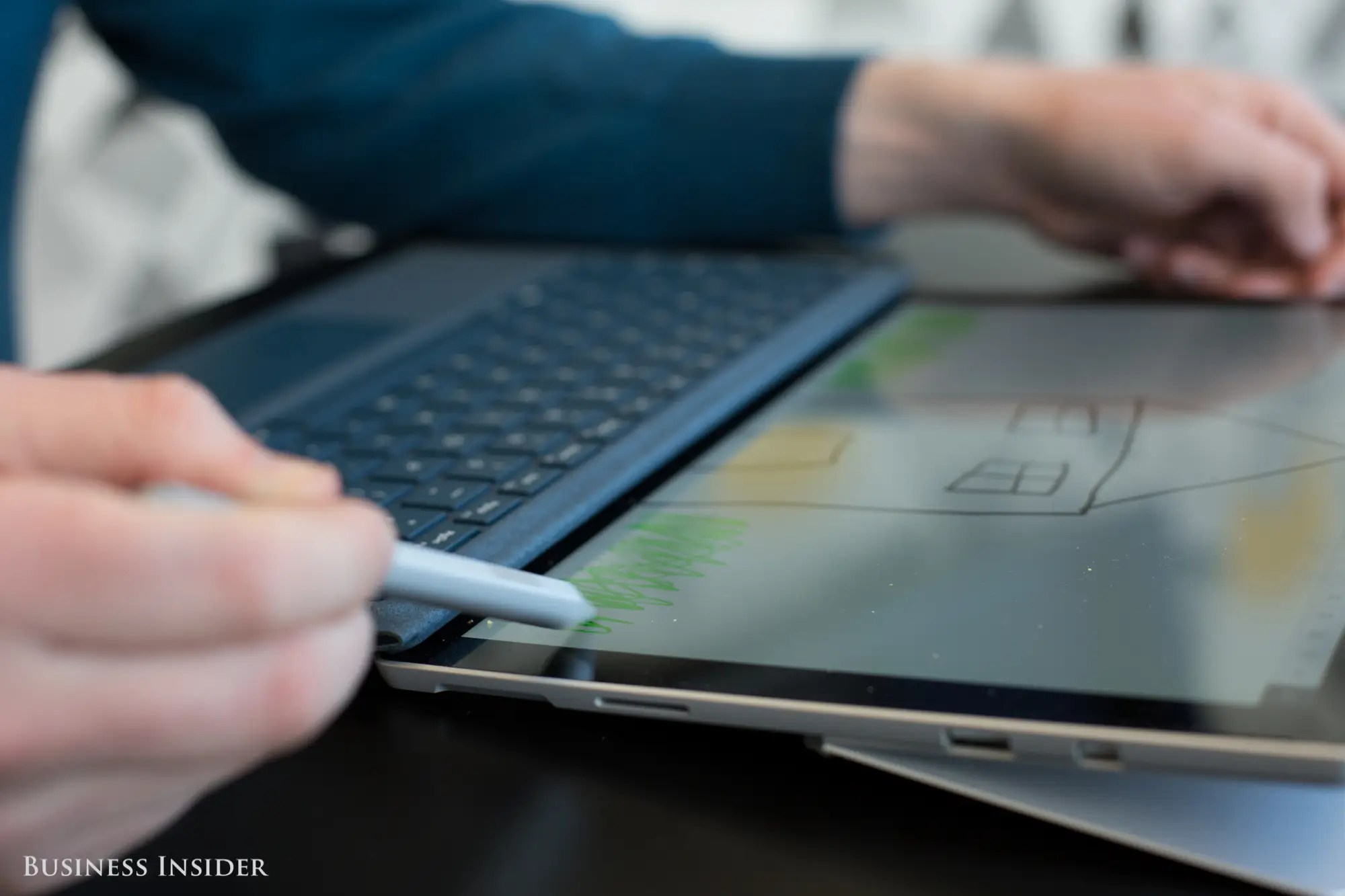 That tablet design, plus the kickstand, actually makes the Surface Pro a great little sketchpad and notepad. You can use it with or without the keyboard attached, giving you a little more flexibility.