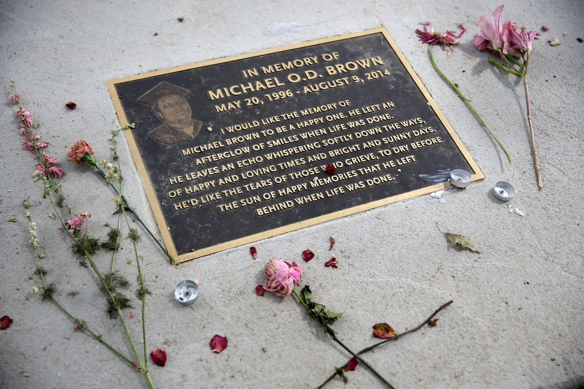 michael brown ferguson memorial