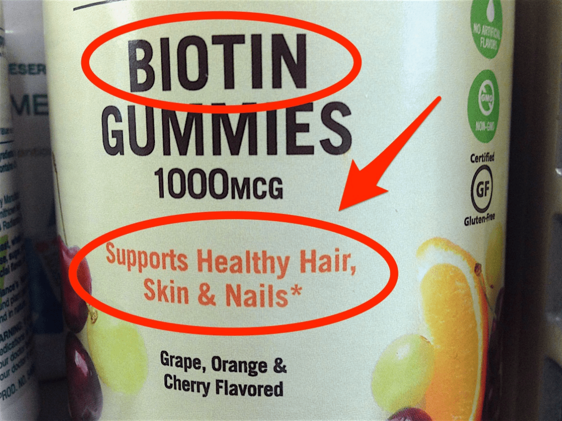 biotin supplement hair nails