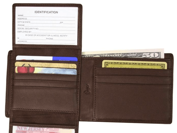 Identity theft wallet
