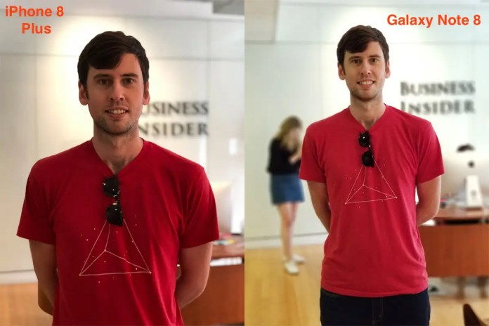 """Samsung added its version of """"portrait mode,"""" and it clearly needs work. It looks as if I were edited into a blurry stock photo."""