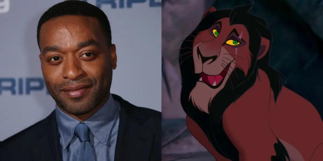 O irmão Scar de Mufasa, Scar, será interpretado por Chiwetel Ejiofor.