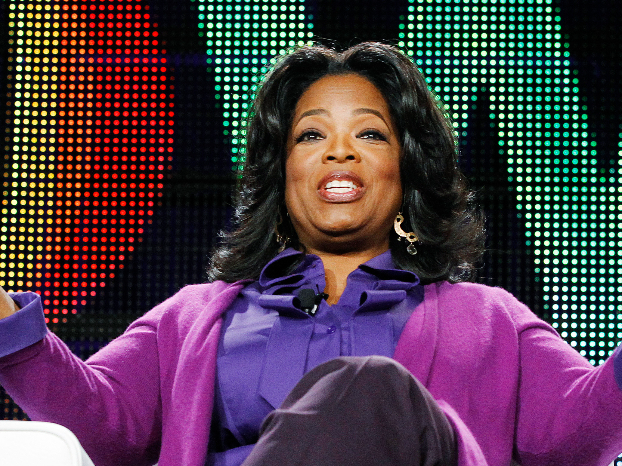 "In 1988, Oprah launched her own production company, Harpo Productions. (""Harpo"" is ""Oprah"" spelled backwards.) She also negotiated ownership of ""The Oprah Winfrey Show,"" which raked in $300 million a year at its peak."