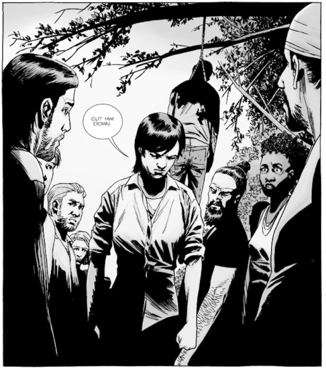 gregory death walking dead comic