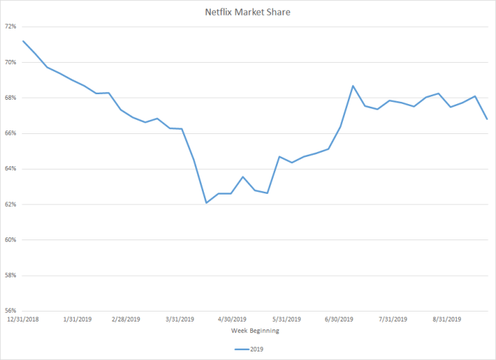 Netflix Market Share Infographic