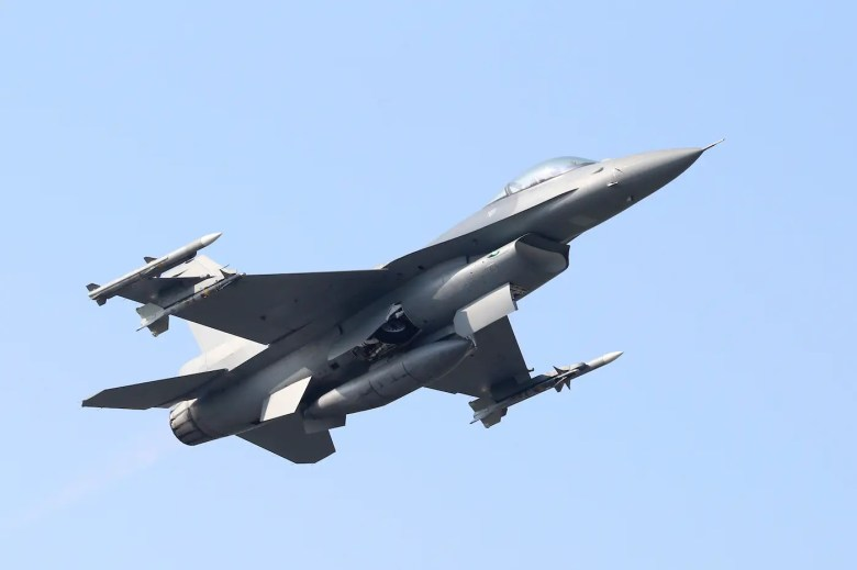 Taiwan air force F-16 fighter jet
