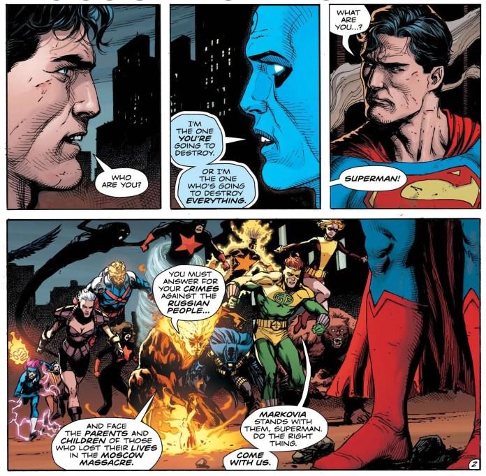 Doomsday Clock Geoff Johns Gary Frank Superman DR Manhattan Watchmen