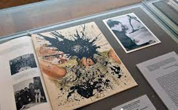 Book with an illustration by Salvador Dalí in the Hermitage Museum in Saint Petersburg