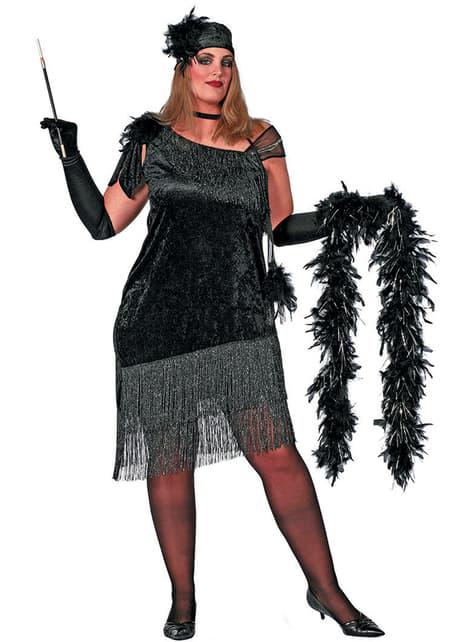 deguisement charleston noir femme grande taille