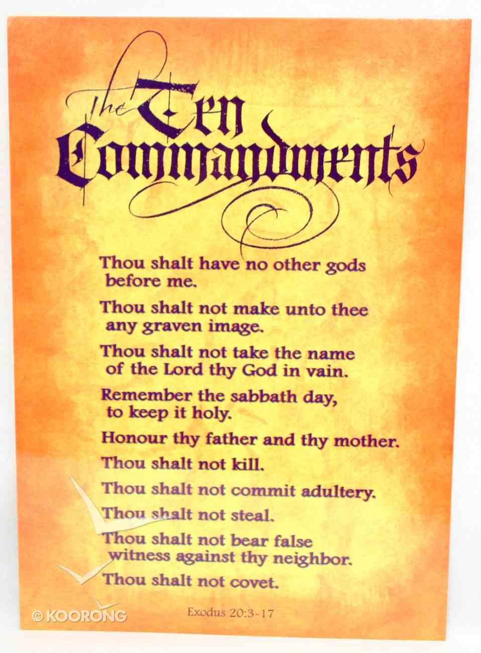 poster large ten commandments