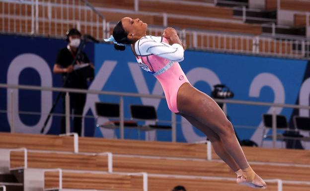 Rebeca Andrade, big favorite in the floor final.
