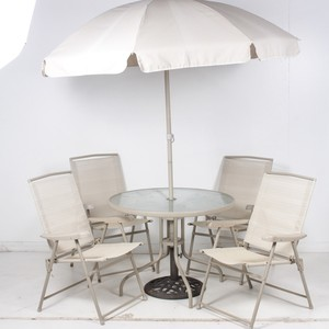 lot art tempered glass top patio