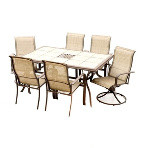 lot art tile top patio table with chairs