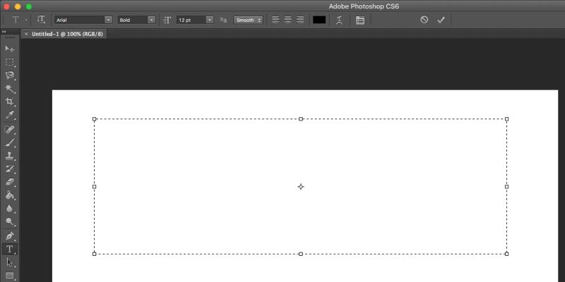 aggiungi la casella di testo in Photoshop