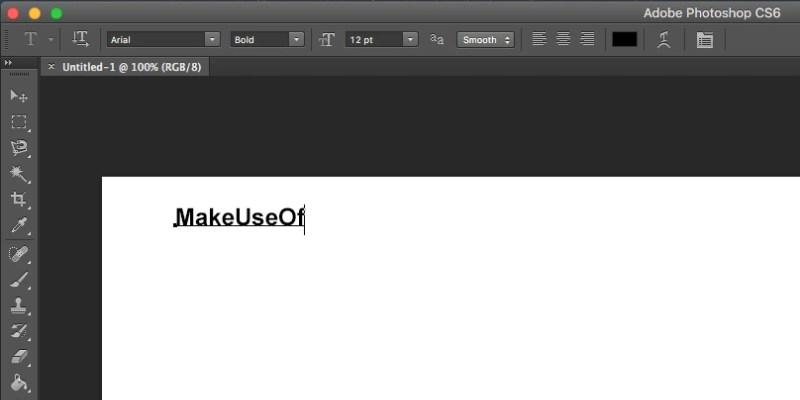 aggiungi testo in Photoshop