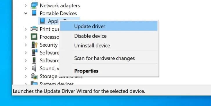 aggiorna i driver dell'iPod