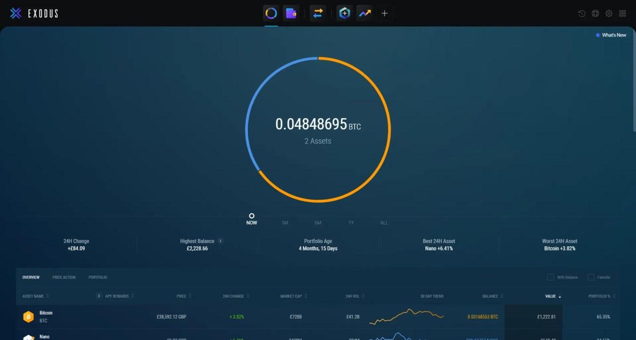 exodus desktop wallet app