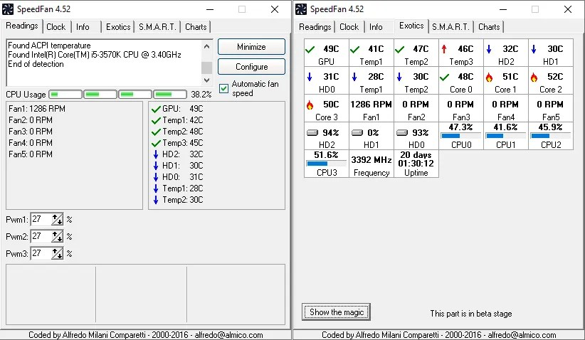 speedfan windows 10 monitoring tool