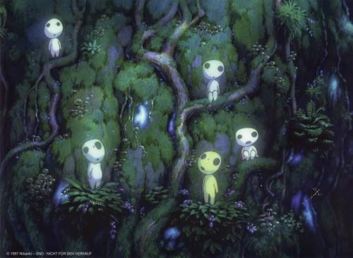 Kazuo Oga, Studio Ghibli, Princess Mononoke, Kodama