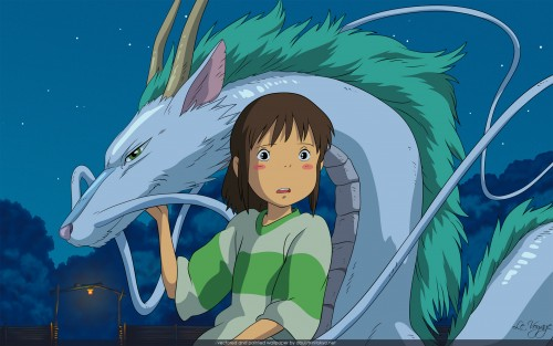 Studio Ghibli, Spirited Away, Chihiro Ogino, Haku (Spirited Away) Wallpaper
