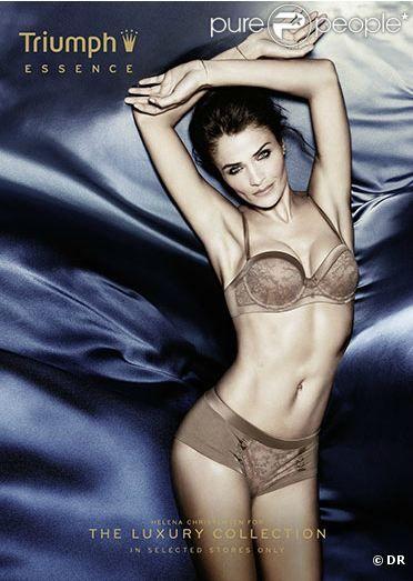 Helena Christensen, terriblement sensuelle pour la campagne printemps/été 2012 de Triumph Essence.