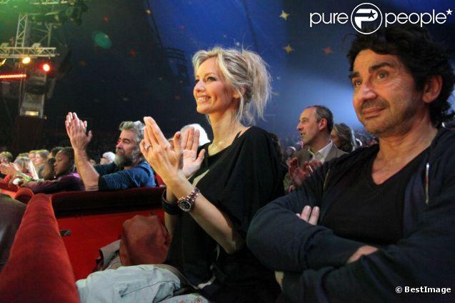 Adriana Karembeu et son compagnon André Ohanian lors du lancement de la 5ème édition Tous en Fête au Cirque Pinder le 2 décembre 2011