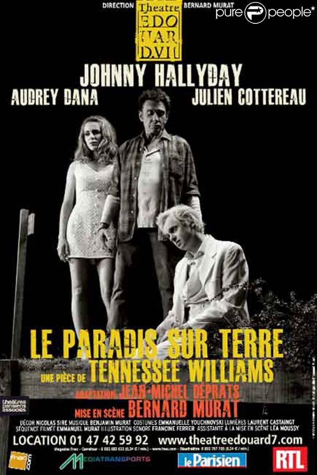 Affiche de la pièce Le Paradis sur terre, au théâtre Edouard VII en septembre 2011.