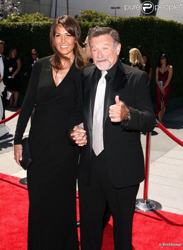 Robin Williams et Susan Schneider aux 62 ARTS CREATIVE EMMY AWARDS A LOS ANGELES le 21.08.10