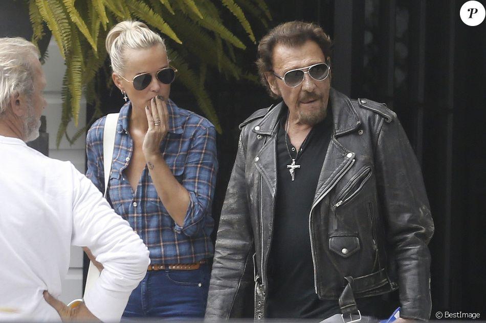 Exclusif - Johnny Hallyday et sa femme Laeticia Hallyday à Los Angeles le 12 septembre 2016.