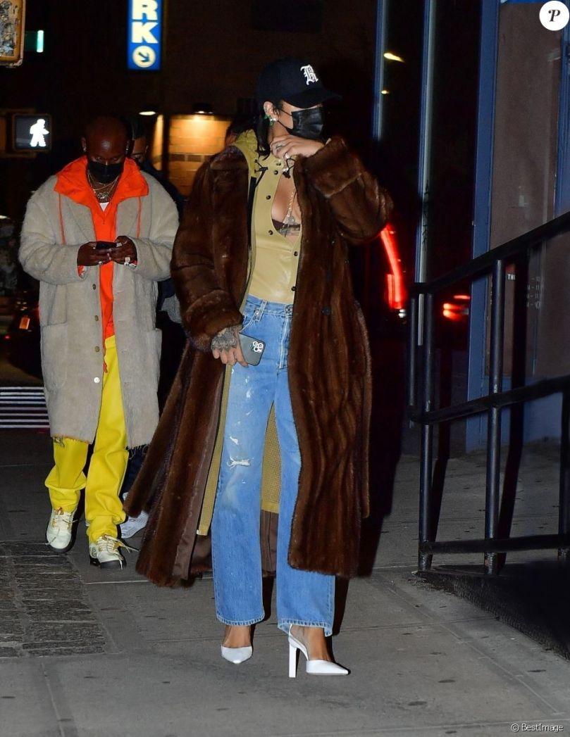 Rihanna et A$AP Rocky : Sortie discrète pour un dîner en amoureux-Photos