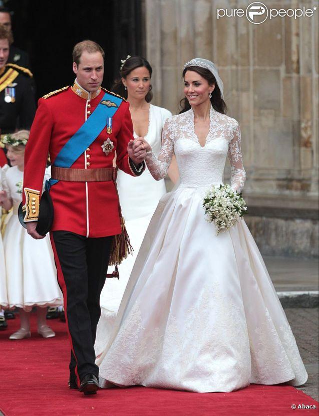Robe de mariée de la princesse Kate conçue par Sarah Burton