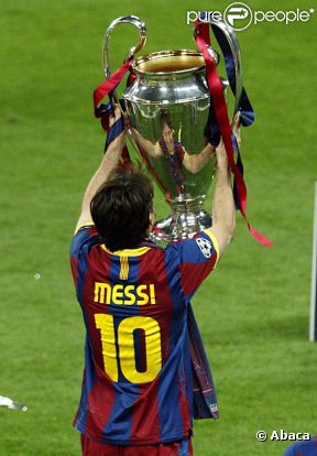 La finale de la Ligue des Champions, qui a vu la victoire du FC Barcelone sur Manchester United (3 buts à 1), au stade de Wembley, à Londres, le 28 mai 2011.