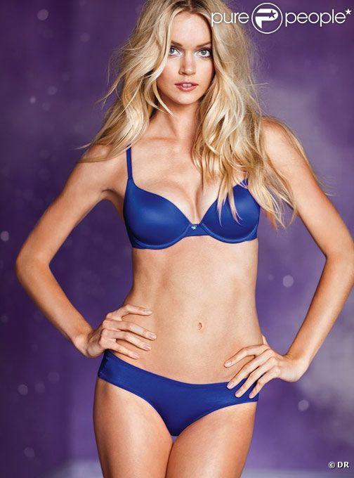 Le top model américain Lindsay Ellingson laisse sans voix. Elle pose pour la lingerie Victoria's Secret