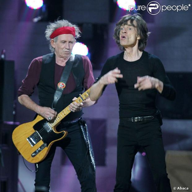 Mick Jagger et Keith Richards des Rolling Stones à New York le 12 décembre 2012.