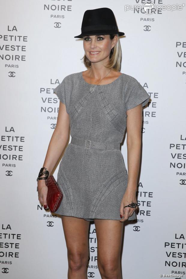 Laeticia Hallyday, très élégante, à la soirée Chanel en novembre 2012 à Paris