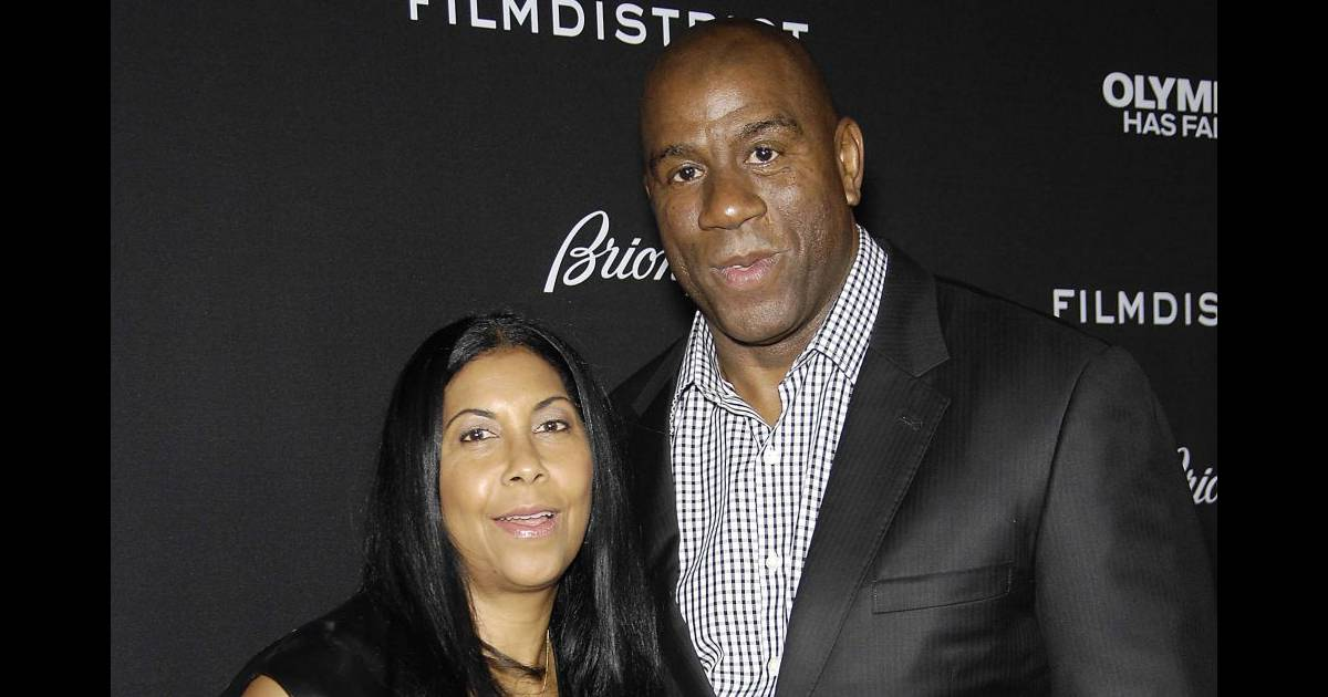 Cookie Johnson Et Son Mari Magic Johnson La Premire Du