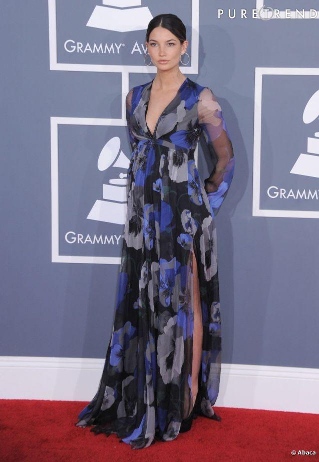 Lily Aldridge, mannequin pour Victoria's Secret. Sur cette photo, elle est enceinte de 7 mois...