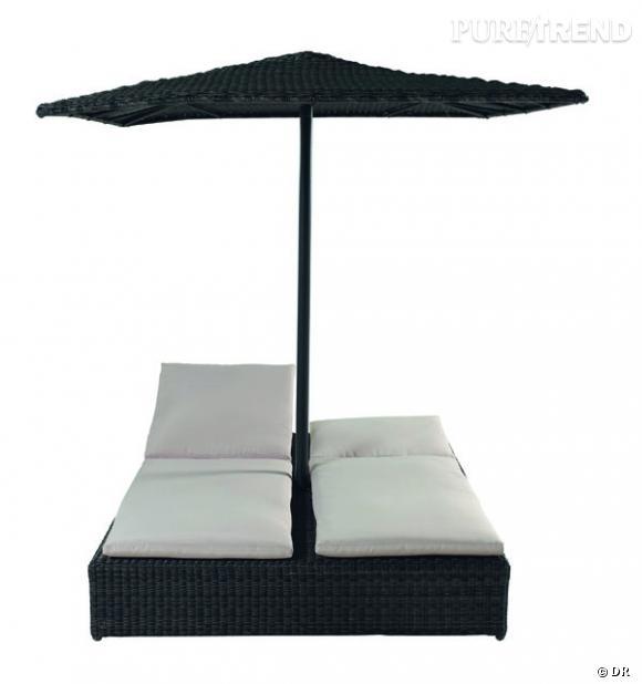 bain de soleil double et parasol