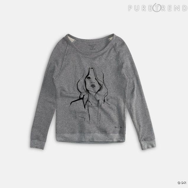 Garance Doré collabore avec Marc O'Polo autour d'une collection de t-shirts et de sweats.