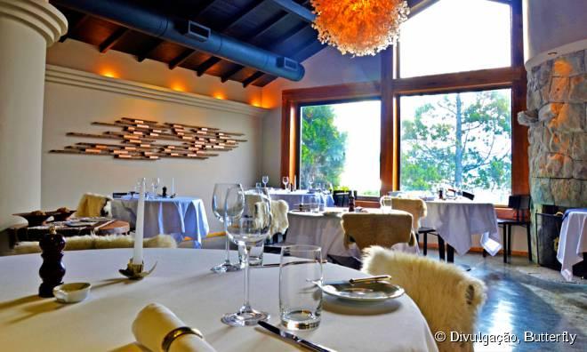 O salão intimista do restaurante Butterfly tem apenas sete mesas