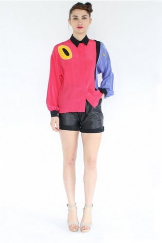 Oversize-Silk-Colourblock-Blouse_$58_YoVintage