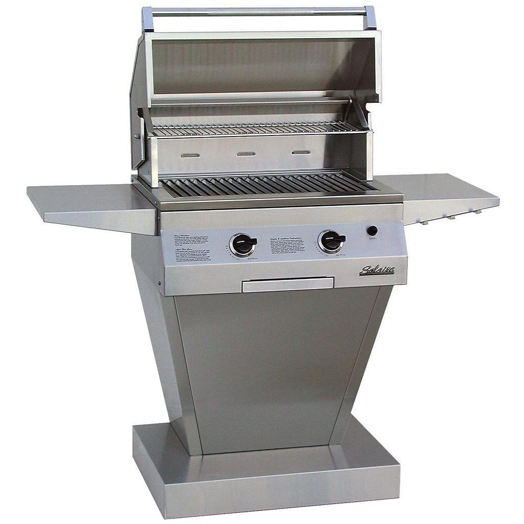 Solaire Gas Grill 27 Deluxe Infravection Gas Grill W One