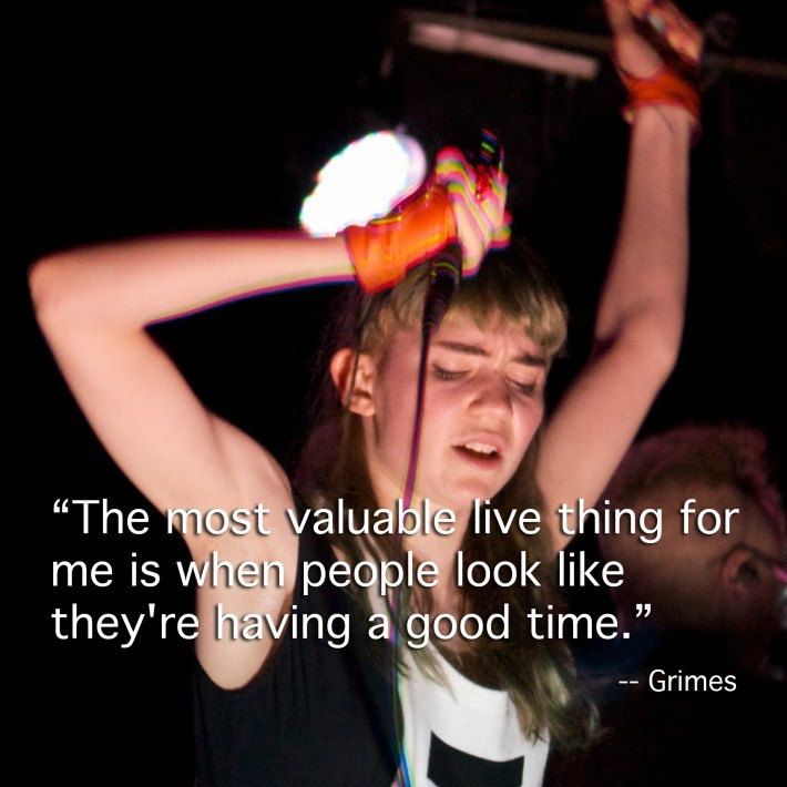 Grimes at Mercury Lounge, March 2012