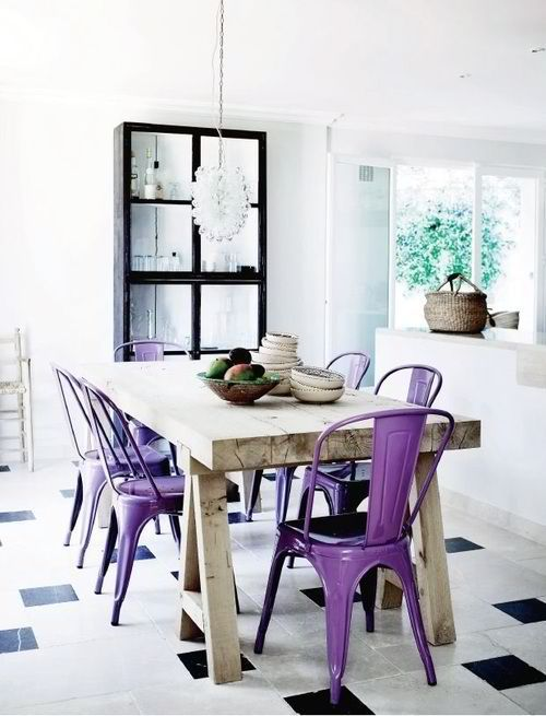 Pantone 2014 Color of the Year Radiant Orchid Dining Room Chairs 18-3224