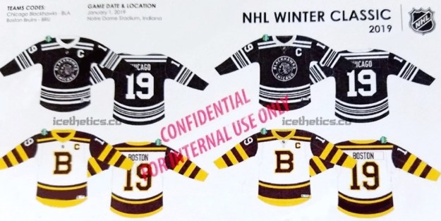 on sale 9be5f 08c90 Blackhawks and Bruins Winter Classic Sweater Concepts Leaked ...