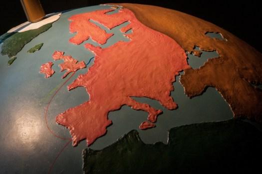 Europe on Antique Globe
