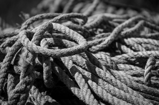 Rope in black and white