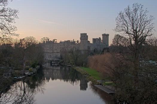 Warwick Castle at Dusk HDR