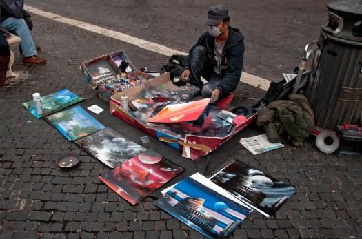 Spray Paint Artist in the Street