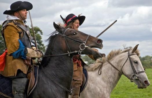 War Re-enactment on Horseback